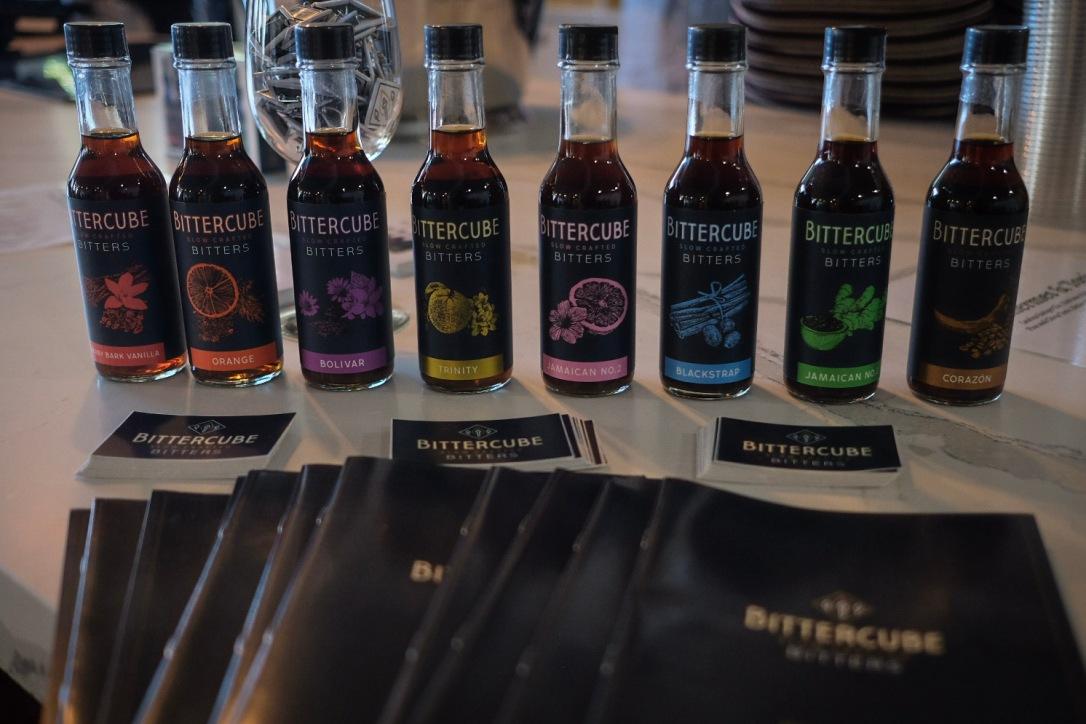 Small bottles of Bittercube drink