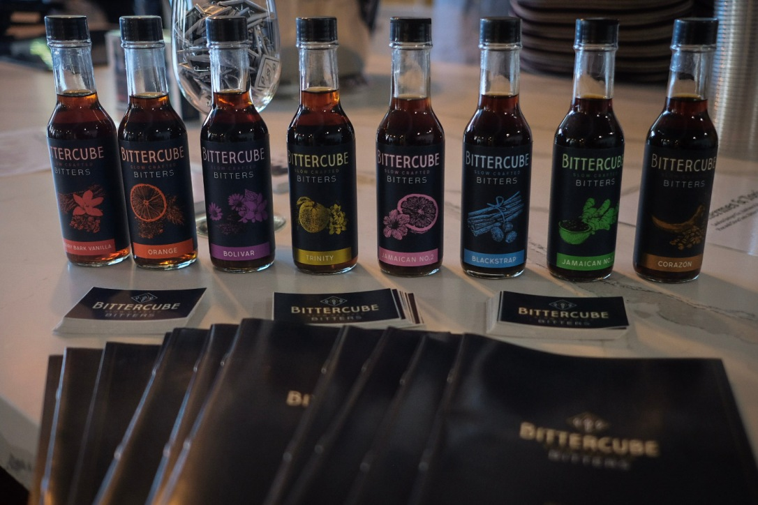 Small bottles of Bittercube drink